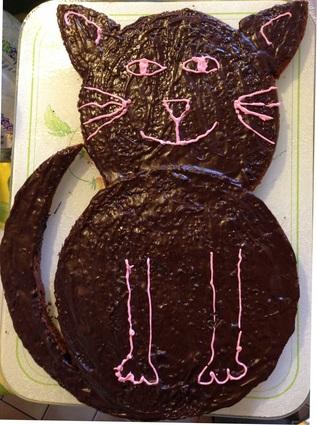 Recette de gâteau chat au chocolat noir