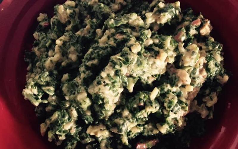 Recette risotto facile lardon, épinard et chèvre économique ...