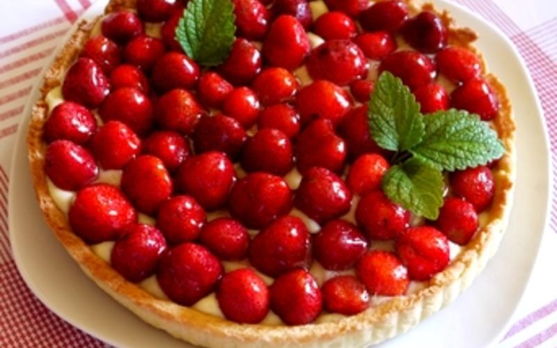 Recette tarte aux fraises et crème pâtissière économique > cuisine ...