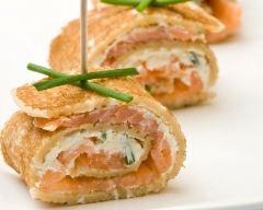 Recette crêpe au saumon et au boursin®