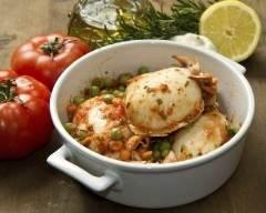 Recette seiche aux tomates et aux petits pois
