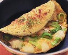 Recette omelette aux oignons