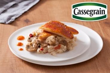 Recette de risotto aux champignons cassegrain, filet de rouget et ...