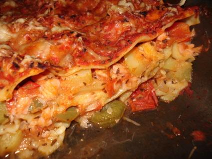 Recette de lasagne saumon-ratatouille