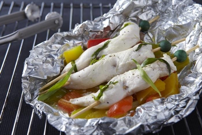 Recette de papillote d'aiguillettes de poulet à l'estragon cuite dans ...