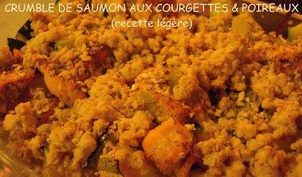 Recette de saumon aux courgettes et poireaux, crumble aux flocons ...