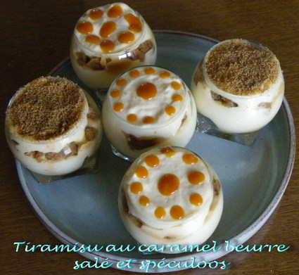 Tiramisu au caramel au beurre salé et spéculoos