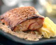 Recette saumon au miel et sesame