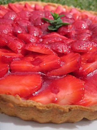 Recette de tarte aux fraises ricotta/mascarpone