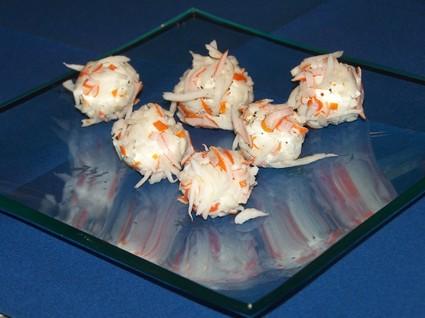 Recette amuse-bouches de surimi au fromage frais