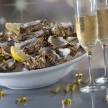 Huîtres au champagne