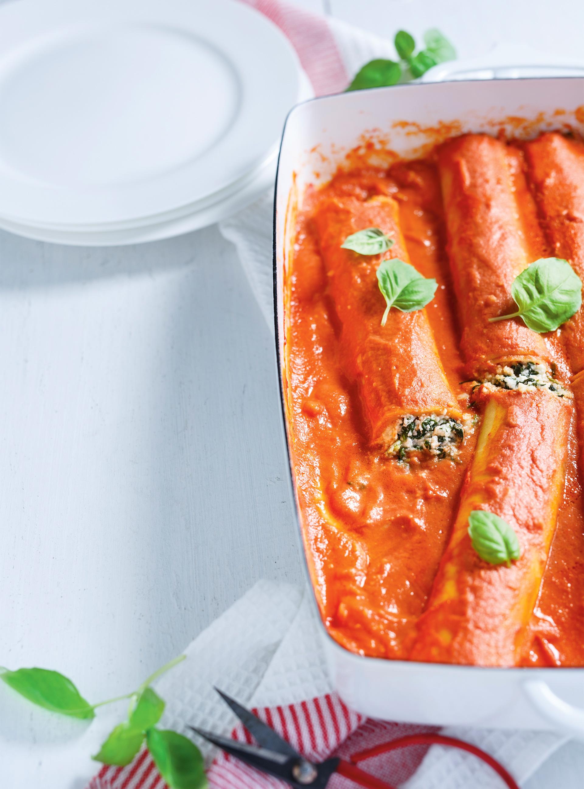 Cannellonis ricotta-épinards, sauce rosée | ricardo