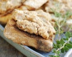 Recette toasts aux rillettes de poulet et herbes de provence