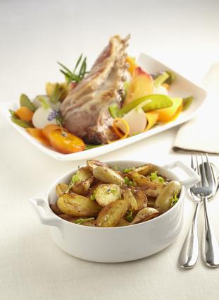Recette de carré d'agneau, petits légumes et ratte du touquet ...
