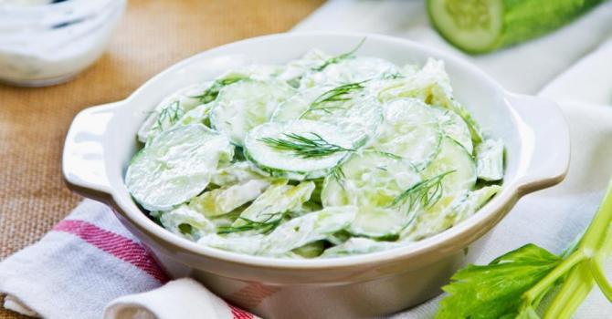 Recette de concombre à l'aneth et yaourt 0%