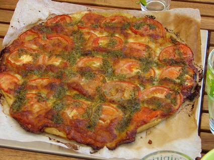 Recette tarte tomate-mozzarella (entrée chaude)