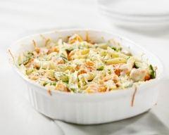 Recette gratin de pâtes, carottes et haricots verts