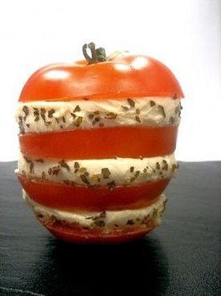 Recette de mille-feuille de tomates à la mozzarella