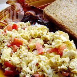 Recette œufs brouillés tomates