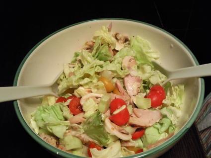 Recette de salade poulet champignons de paris