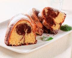 Recette gâteau marbré au cacao facile