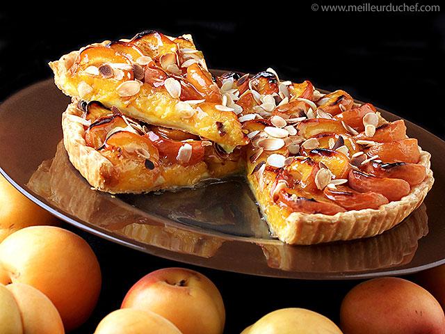 Tarte aux abricots  fiche recette  meilleurduchef.com