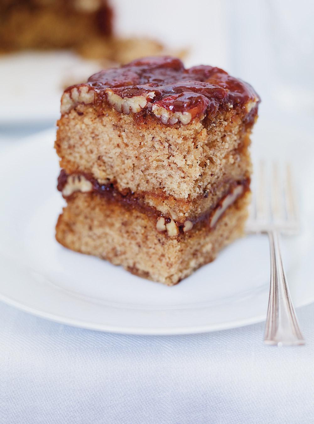 Gâteau renversé aux pacanes et au caramel butterscotch | ricardo