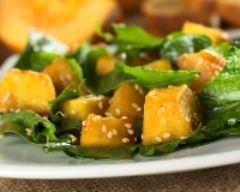 Recette salade à la citrouille et aux épinards