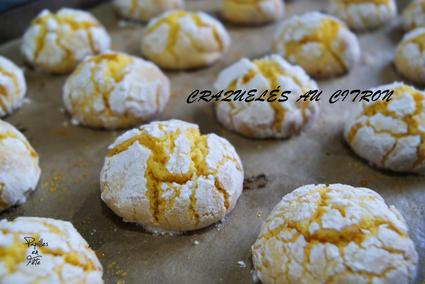 Recette de biscuits craquelés au citron ou lemon crinkles