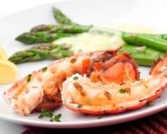 Recette homard grillé au beurre corail