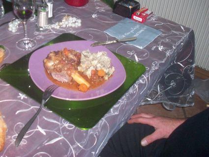 Recette de souris d'agneau à la tomate et vin blanc sec