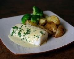 Recette cabillaud poché sauce moutarde citronée et potatoes au ...