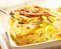 Recette lasagnes chèvre, courgettes