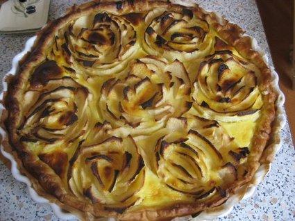Recette de tarte aux pommes façon flan