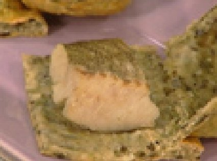 Recette de lieu jaune en croûte de sel et d'algues