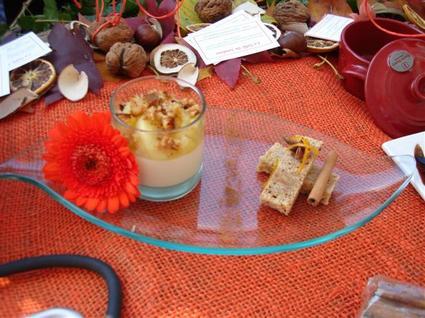 Recette de panna cotta vanille, poêlée de pommes à l'orange ...