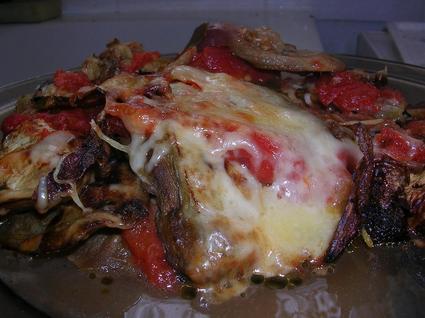 Recette de gratin d'aubergines et tomates à la mozzarella