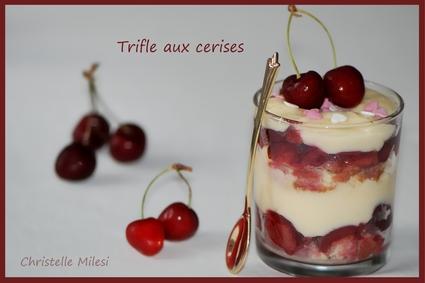 Recette de trifle aux cerises