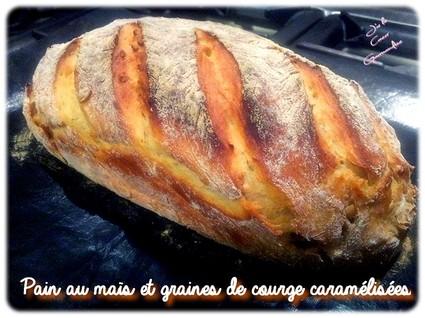 Recette de pain au maïs et graines de courge caramélisées