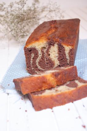 Recette de cake marbré aux deux chocolats ultra moelleux
