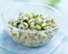 Recette taboulé de quinoa, concombre de france, menthe et fêta