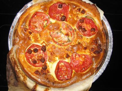 Recette de tarte provençale à la tomate et au chèvre