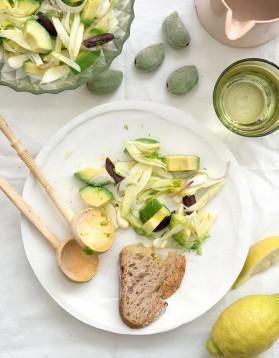 Salade d'avocat et fenouil aux amandes pour 4 personnes ...