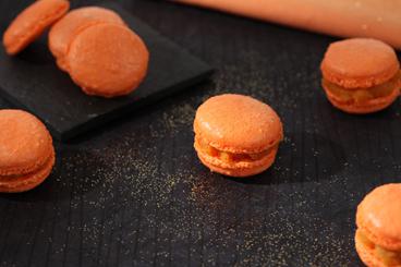 Recette de macaron au sucre cuit au potiron et au gingembre facile ...