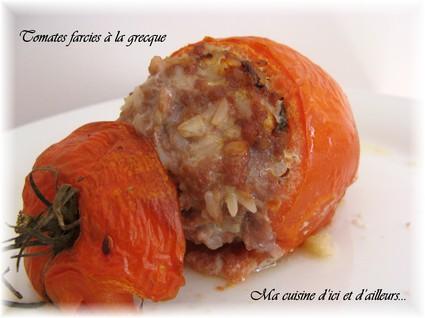 Recette de tomates farcies à la grecque