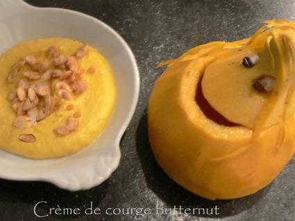 Recette de crème de courge butternut