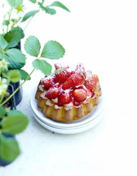 Angel cake aux fraises pour 6 personnes