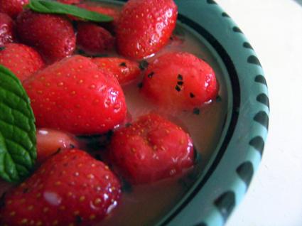 Recette de fraîcheur de fraises à l'orientale