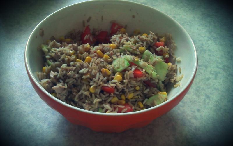 Recette salade de riz pas chère et rapide > cuisine étudiant