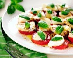 Recette salade de tomates à la mozzarella, au vinaigre balsamique